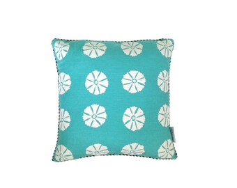 SALE: Aqua Ottoman cushion cover 42cm x 42cm