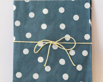 Navy Blue Favor Bags Navy and White Party Goodie Bags Navy Blue Party Supplies Nautical Party Treat Bags Boys Birthday Party / Set of 12