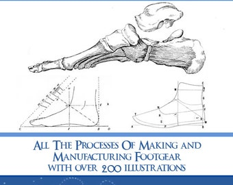 How To MAKE BOOTS and SHOES 300 Pages illustrated Book Shoe Making Patterns Printable or Read on Your iPad or Tablet Instant Download