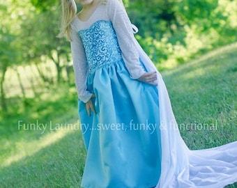 Elise's Everyday Princess Dress PDF Pattern Sizes 6/12m to girls 8
