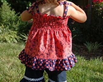 HALF OFF SALE Baby Jenna's Lace Single Ruffle Pants and Capris pdf Pattern size newborn to 18/24m