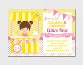 Lemonade Invitation - Pink Lemonade Invitation - Lemonade Stand Invitation - Pink Lemonade - Lemonade Party - Pink Lemonade DIY Printable