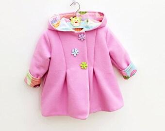 Hearts Hoodie Children Baby Girl Boy Jacket Pattern By