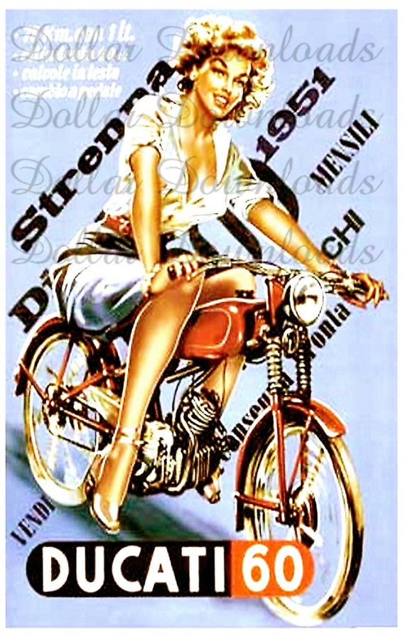 1951 Ducati 60 Motorbike Digital Image Download No. 015