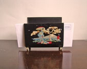 vintage metal letter stand with Asian / Japanese motif New Year get organized