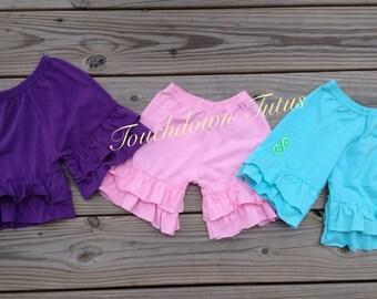 SALE - Ruffle monogrammed shorts