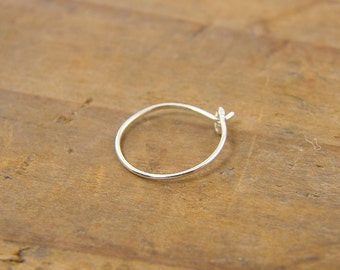 Nose Ring in Sterling Silver, Thin Nose Ring, Thin Nose Hoop |NR1