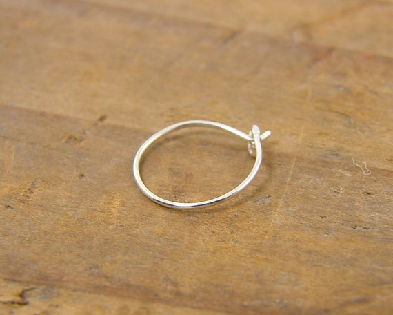 nose ring in sterling silver thin nose ring thin nose hoop