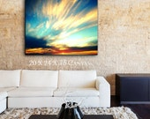 Ocean Photography Sunset Photography Canvas Wall Art, Beach Decor, Abstract Canvas Home Decor Large