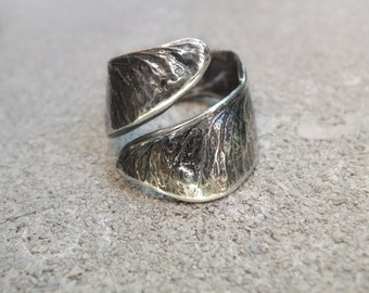 Samara Maple Seed Wrapped Ring - Sterling Silver 925 - Made to Order