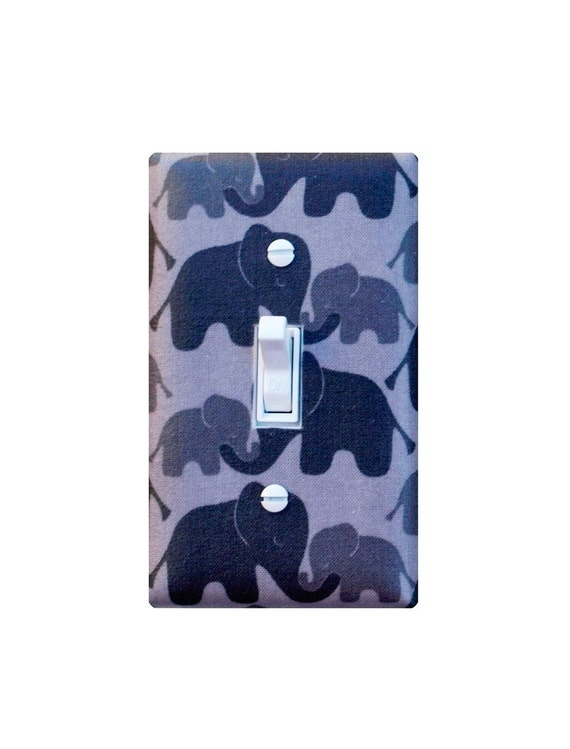 Elephant Light Switch Plate Cover Nursery Decor Girl Boy