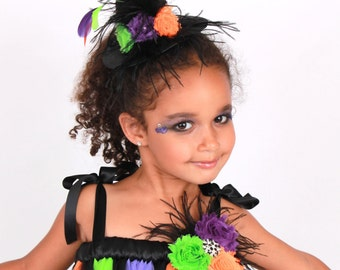 READY TO SHIP: Twinkling Trickster Mini Witch Hat Headband - Halloween Costume - Fits toddler to adult - Cutie Patootie Designz