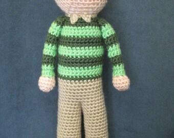 CROCHET PATTERN - Steve Doll Plush Amigurumi Blue's Clues Stuffed Toy Baby Boy Girl tutorial PDF