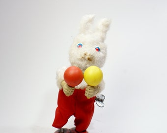 1950's Japanese Tin Toy Wind Up Bunny