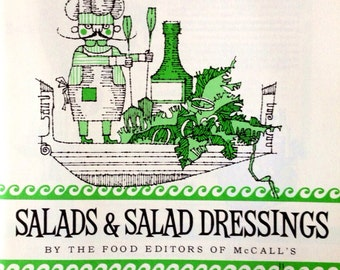 Vintage McCall's Magazine 'Salads & Salad Dressings,' for Delectable Tidbits of House-Wife Know-How 'The Dressing is the Soul of the Salad'