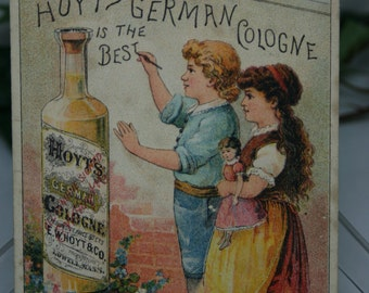 Victorian Trade Card - Hoyt's German Cologne