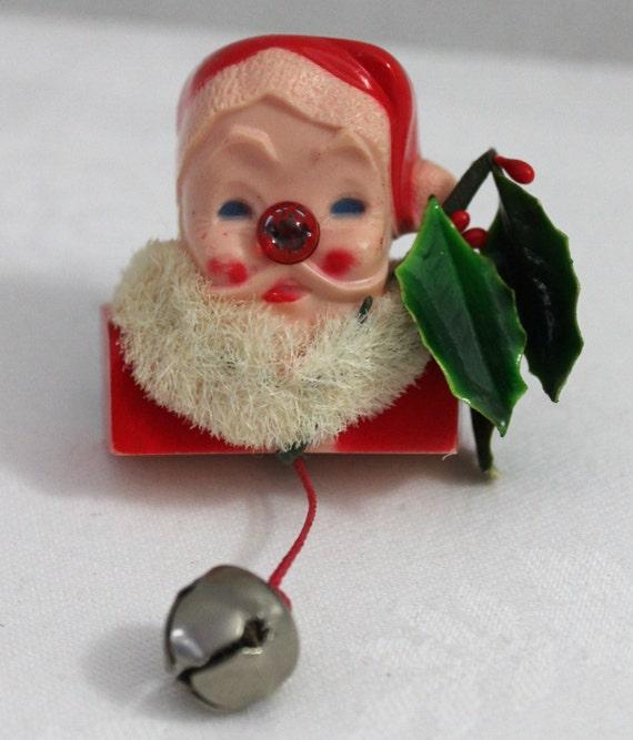 Vintage santa claus pin brooch
