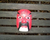 Mid Century Chinese Painted Paper Mache Mask