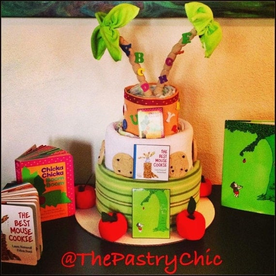 Children's Book Theme Baby Shower Diaper Cake