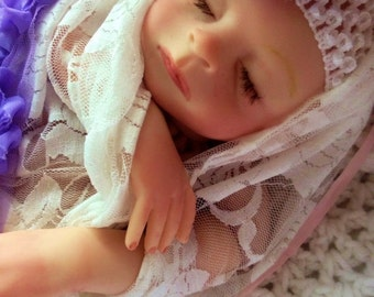 Completed Reborn Baby doll from the Faith 18 inch Kit Baby Felicia
