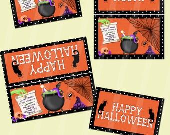 Digital Printable Halloween Bag Toppers Large and Small