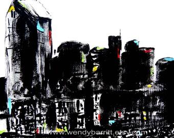 Nashville Abstract Skyline-Print-8x10