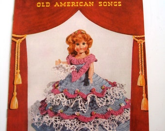 Vintage Doll Clothing Pattern Booklet, Crochet, Spool Cotton Co, 1952