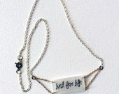 Iggy Pop Jewelry // Lust for Life Necklace // Rock Music Jewelry // Statement Necklace // Lyrics Necklace // Chain Necklace // Punk Rock