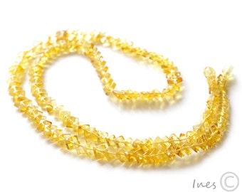 Luxury Baltic Amber Necklace. Square shape amber beads.