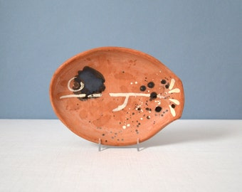 Vintage Studio Art Pottery Fish Dish