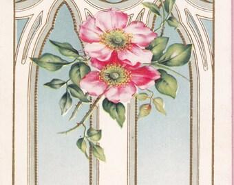 Ca. 1915 Easter Greetings Postcard - 1458