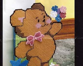 Baby Bear Doorstop  Plastic Canvas  Kit Bucilla 6044