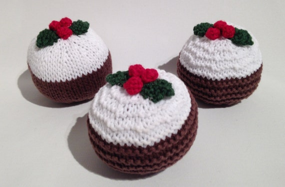 Knitting Pattern For A Christmas Pudding : Christmas Pudding knitting pattern