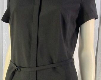 Vintage 90's Ann Taylor black SS business  blouse Size 12 P