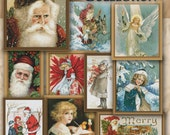 Counted Cross Stitch Patterns Vintage Christmas Collection - Color Charts - Instant Download PdF - StitchX - 10 Holiday Designs Best Seller