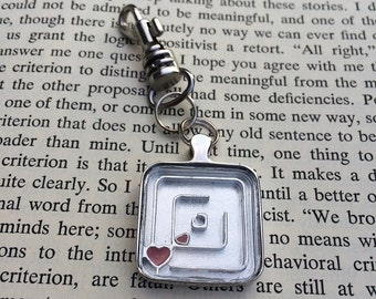 SALE! Heart Puzzle - Purse Charm Keychain w/ Lobster Clasp