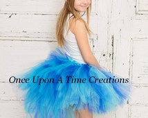 Ready To Ship Exotic Blue Bustle Tutu - Sizes 0 6 9 12 18 Months 2T 3T 4T 5T 6 7 8 10 12 14 Adult Ladies Women Teen Parrot Halloween Costume