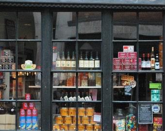 photographic print:  London shop front