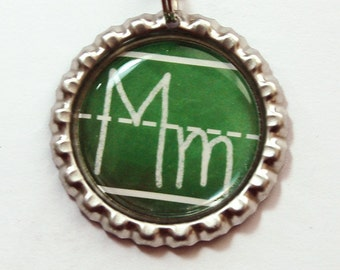 Monogram Bookmark, Personalized Bookmark, bookmark, custom bookmark, Green, Teacher bookmark, Gift for Teacher, Chalkboard Bookmark (3707)