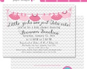 Little Girls are Just Tutu Cute Printable DIY Baby Shower Invitation