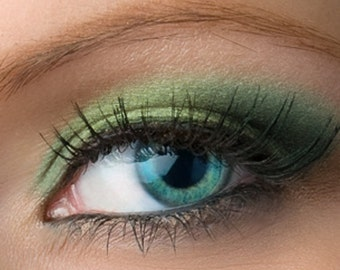 """Golden Teal Eyeshadow - """"Mermaiden"""" - Vegan Mineral Eyeshadow Net Wt 2g Mineral Makeup Eye Color Pigment"""