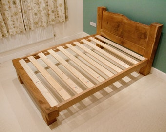 Oak Bed Frame - Oak Beams - Solid Oak - Framing Beams - Pegged Joints - UK Double - Double Bed Frame - Queen Size - King Size - Single