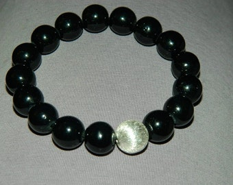 Acrylic and Sterling Silver bracelet