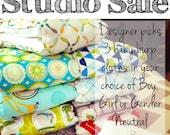 FREE SHIPPING - Baby Burp Cloths, Cloth Diaper Burp Cloths, Studio Sale Baby Burp Rags by JuteBaby