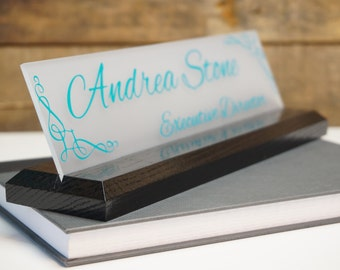 """Made by Garo Signs - Personalized Desk Name Plate 10"""" x 2.5"""""""
