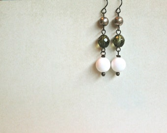 Evergreen Drop Earrings by Nancelpancel on Etsy