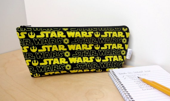 Star Wars Inspired Pencil Case Zippered Pouch - Back to School Supplies
