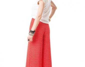 Byblos printed palazzo pants // 80s // S/M size
