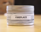 Fireplace 8oz Soy Candle with Wood Wick