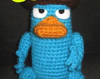 PATTERN: Crochet Perry the Platypus Agent P Amigurumi